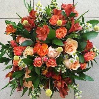 bouquet couleurs chaudes