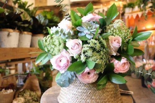 Bouquet choix du fleuriste couleurs douces