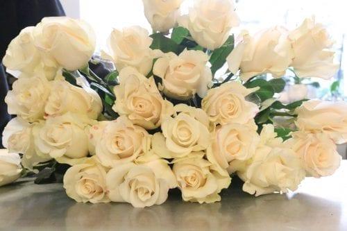 Bouquet de roses blanches Amélia