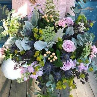 Bouquet de Giroflées et chardons