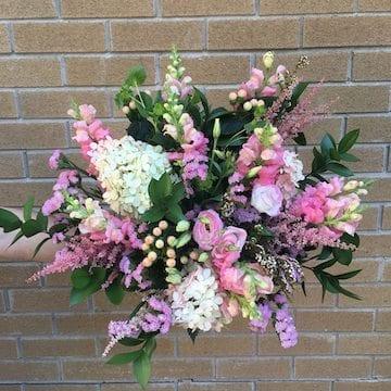 bouquet couleurs douces choix du fleuriste