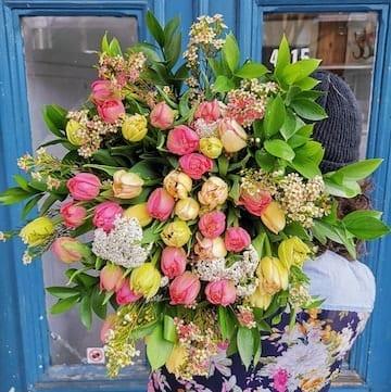 buquet de tulipes, bouquet de tulipes et wax