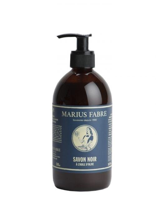 Savon noir liquide à l'huile d'olive de chez Marius Fabre 500 Ml